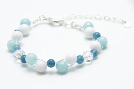 Perlen Armband Tuerkiser Bergkristall