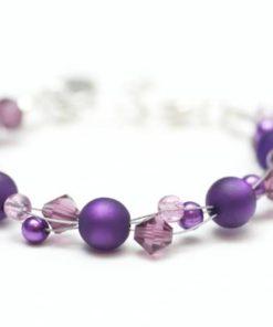 Violettes Perlen Armband