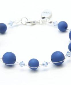Perlen Armband Dunkelblau