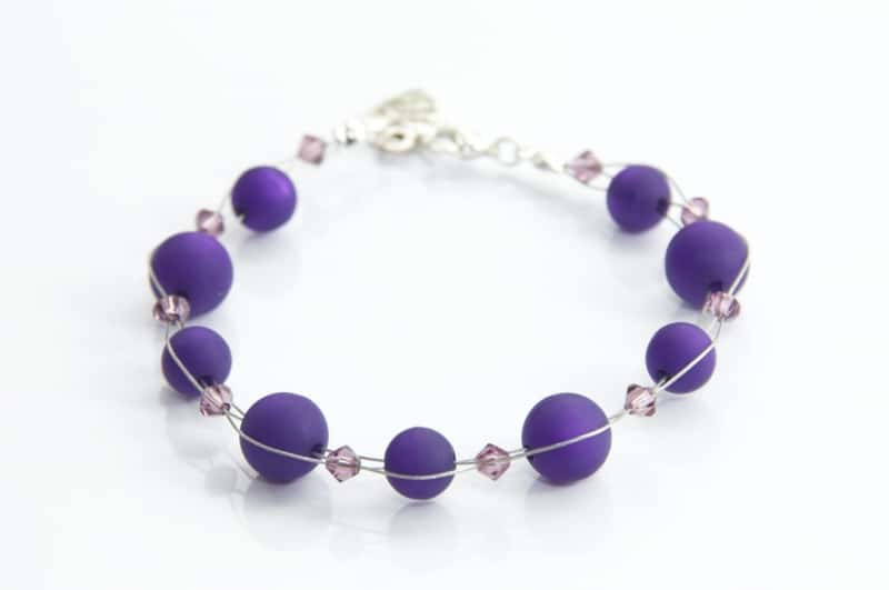 Perlen Armband Violett