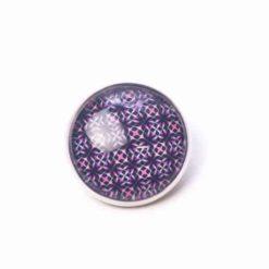 Button Knopf violet gemustert