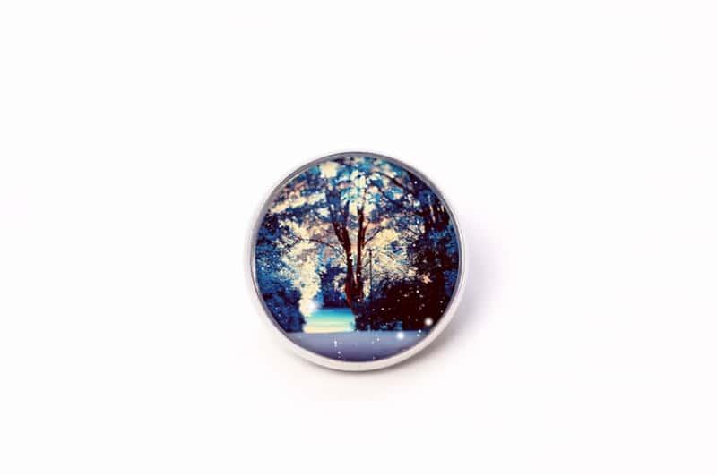 Button Knopf Wintermärchen