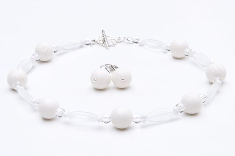 Colier weiße Eleganz