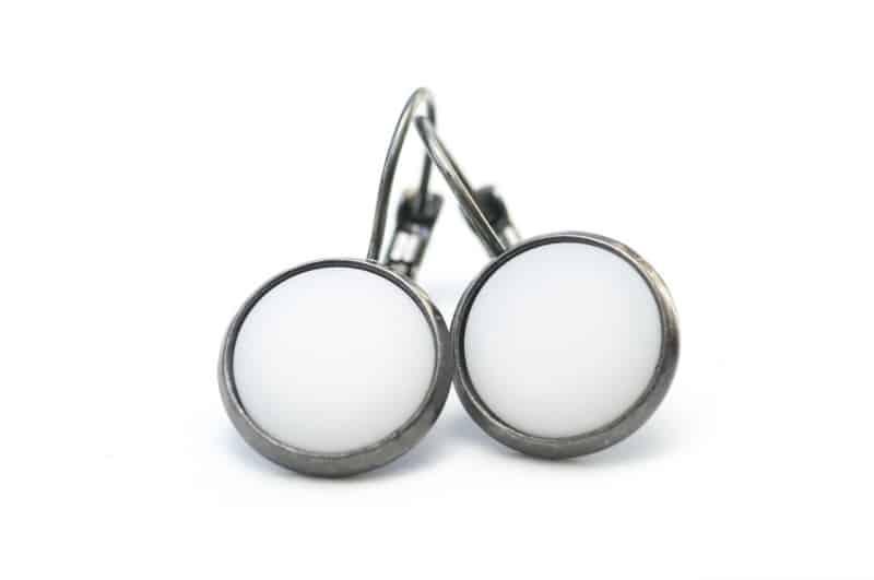 Weiße Polaris Creolen