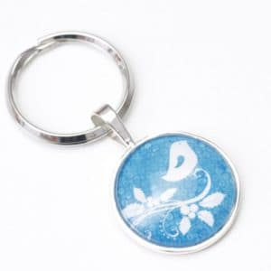 Schlüsselanhänger Mistelzweig mit kleinem Vogel