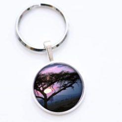 Schlüsselanhänger lila/blauer Baum