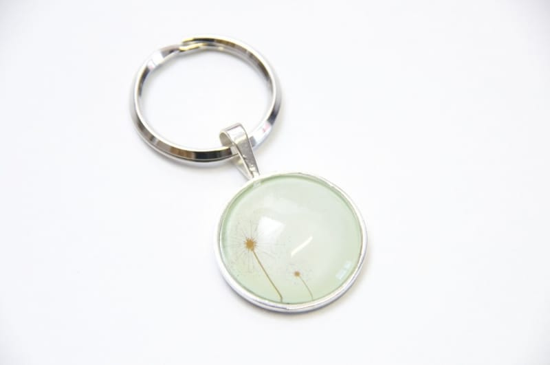 Schlüsselanhänger zarte Pusteblume Grün