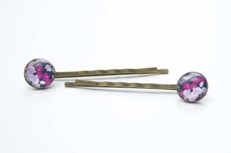 Haarspangen rosa und pinke Blumen