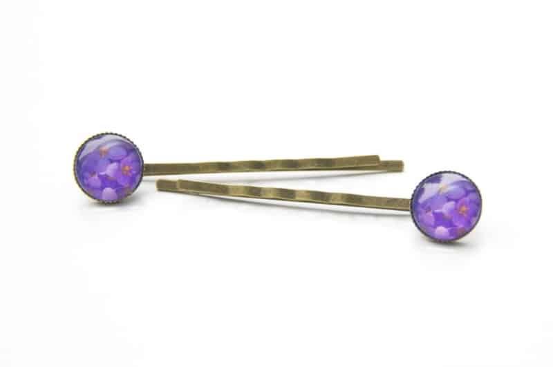 Haarspangen violetten Blumen