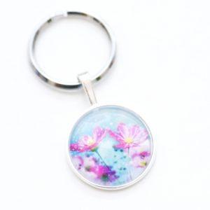 Schlüsselanhänger rosa Margeriten
