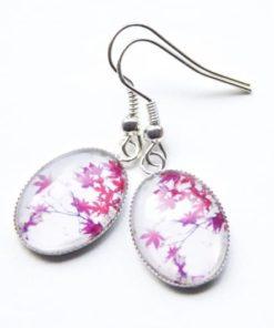 Zarte Ohrhänger mit wunderschönen rosaroten Blüten