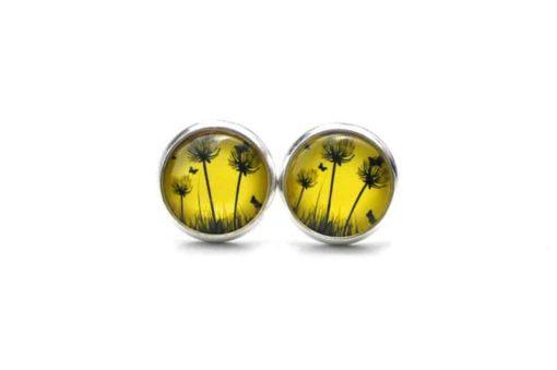 Druckknopf / Ohrstecker / Ohrhänger Pusteblume - große Farbauswahl