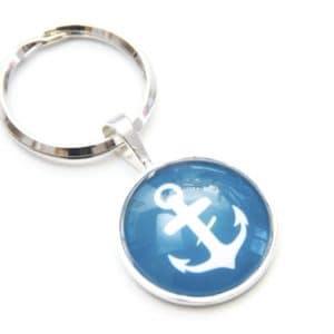 Schlüsselanhänger maritim Anker Emerald