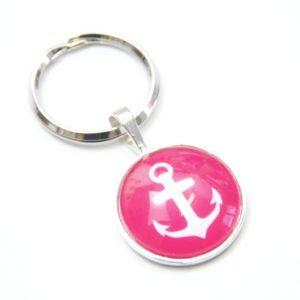 Schlüsselanhänger maritimer Anker pink